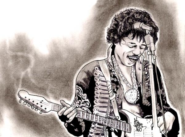 Jimi Hendrix por Kage1.0